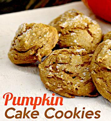 Pumpkin Cake Cookies Recipe - Only 2 Ingredients - Wanna Bite