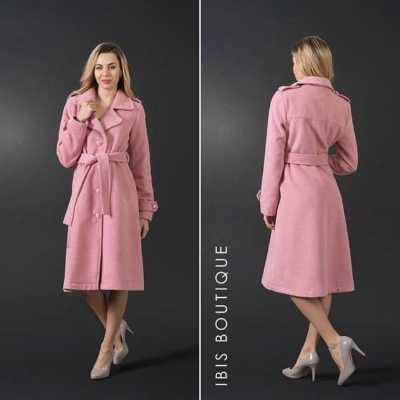 c97d70daca1 Light pink elegant woman winter woman coat