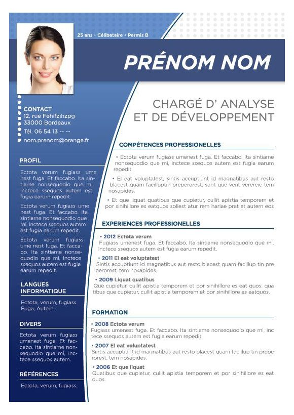 Modele cv image pinteres - Comment telecharger open office gratuitement ...