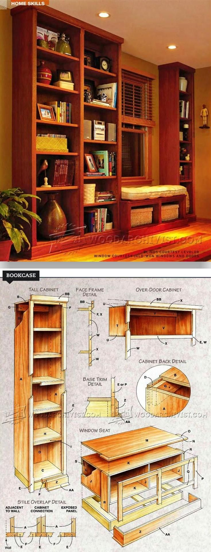 Built In Bookcase Plans Furniture Plans And Projects Woodarchivist Com Woodworking Furniture Plans Bookcase Plans Woodworking Plans Diy