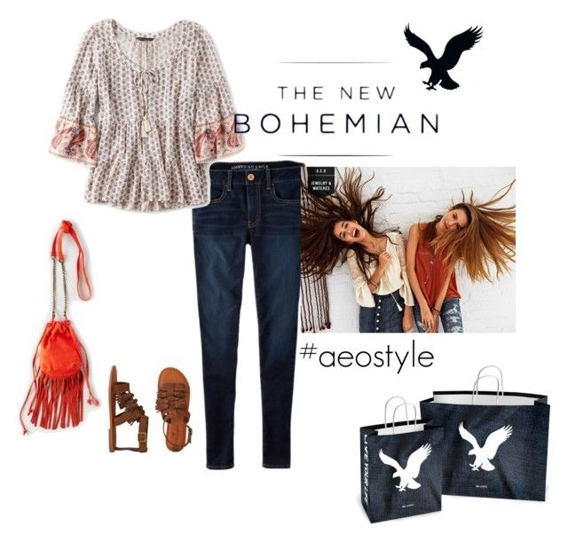 """""""The New Bohemian with American Eagle Outfitters: Contest Entry"""" by sunnyrea ❤ liked on Polyvore featuring American Eagle Outfitters and aeostyle"""