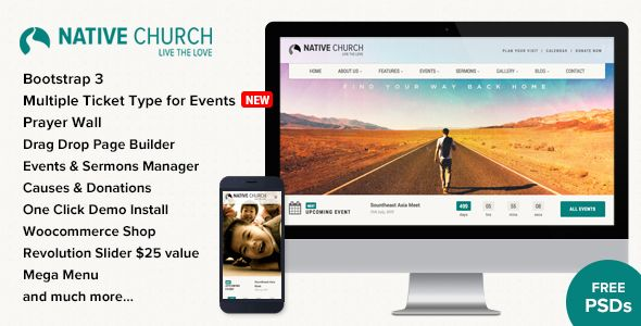 NativeChurch - Multi Purpose WordPress Theme - https://themekeeper ...