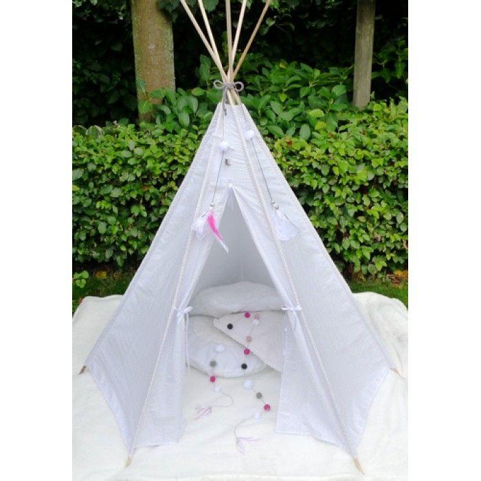 Tipi tent wigwam stip wit grijs  sc 1 st  Pinterest & Tipi tent wigwam stip wit grijs | TIPI WIGWAM TEE PEE TEEPEE ...