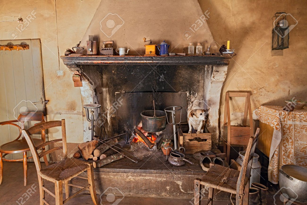 Stock Photo Old Country Houses Cool Rooms Home Appliances
