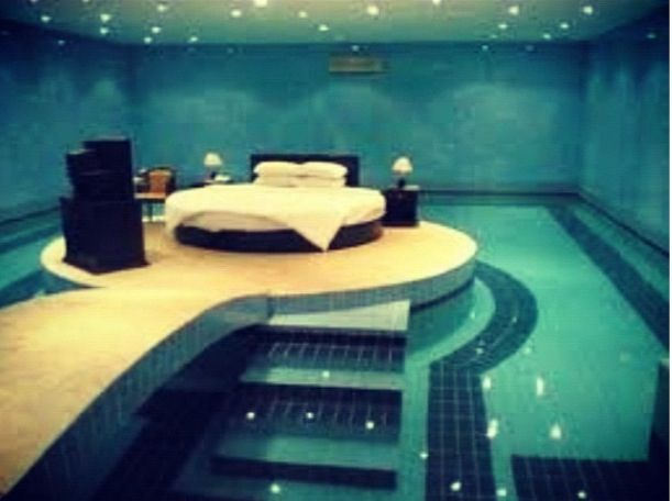 I'd be scared of rolling off the bed in my sleep and drowning in
