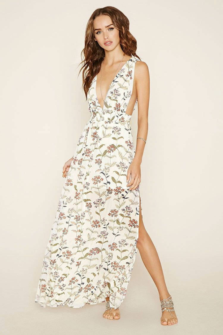 0d0644dfe4e Botanical Print Maxi Dress - New Arrivals - 2000170737 - Forever 21 EU  English