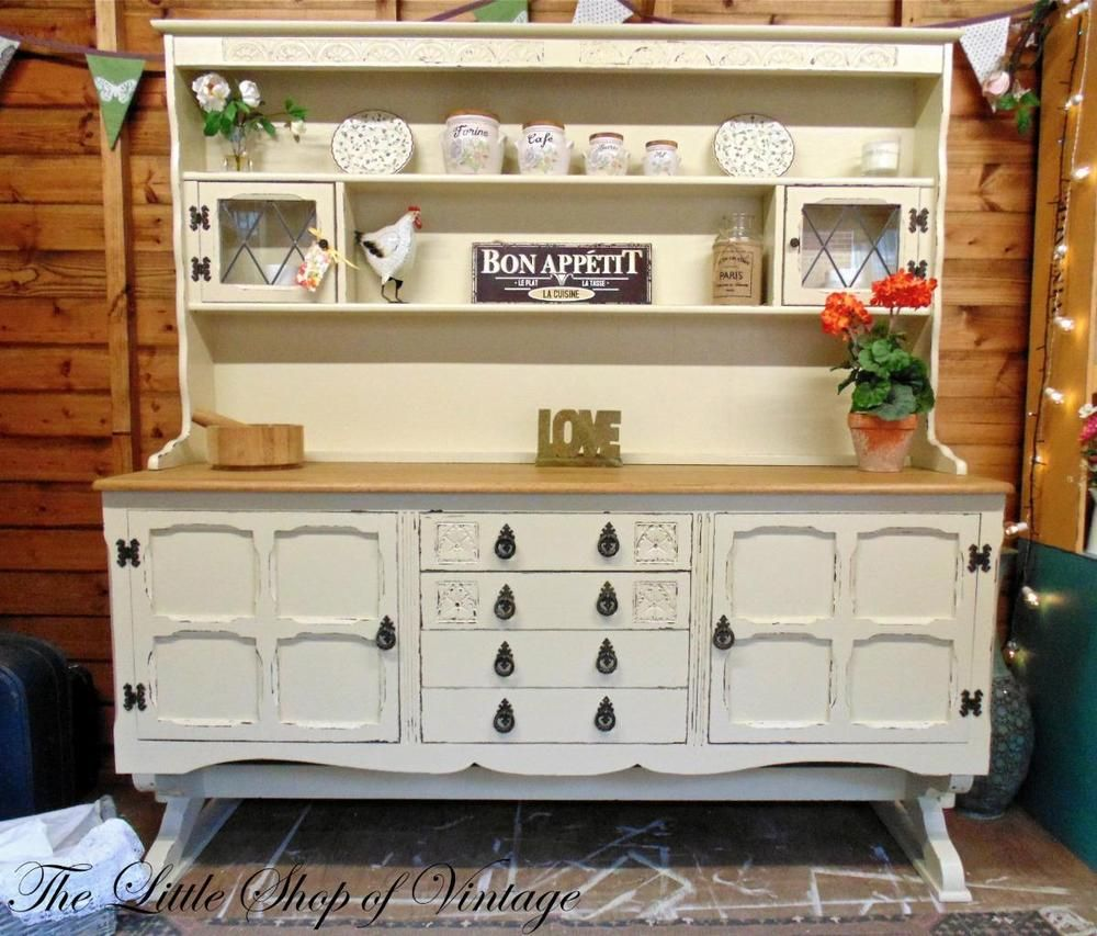 Jaycee Old Charm Large Dresser Sideboard Cupboard Cabinet Shabby ...