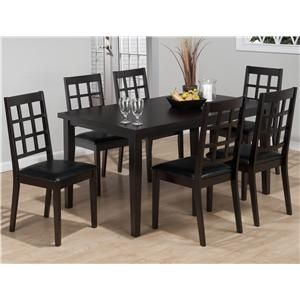 oldbrick furniture. Casual 7 Piece Dining Set With Gridback Chairs By Jofran - Old Brick Furniture Oldbrick