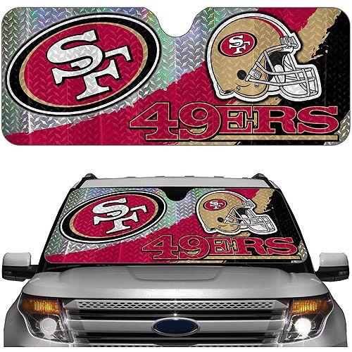 San Francisco 49ers NFL Auto Sunshade: Interior Car Accessories ...