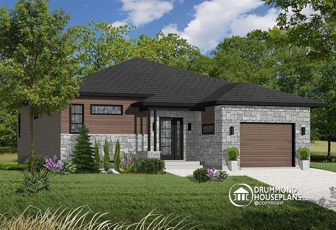 W3281 - Modern Split level home with open floor plan, 2 bedrooms - maison avec porche d entree