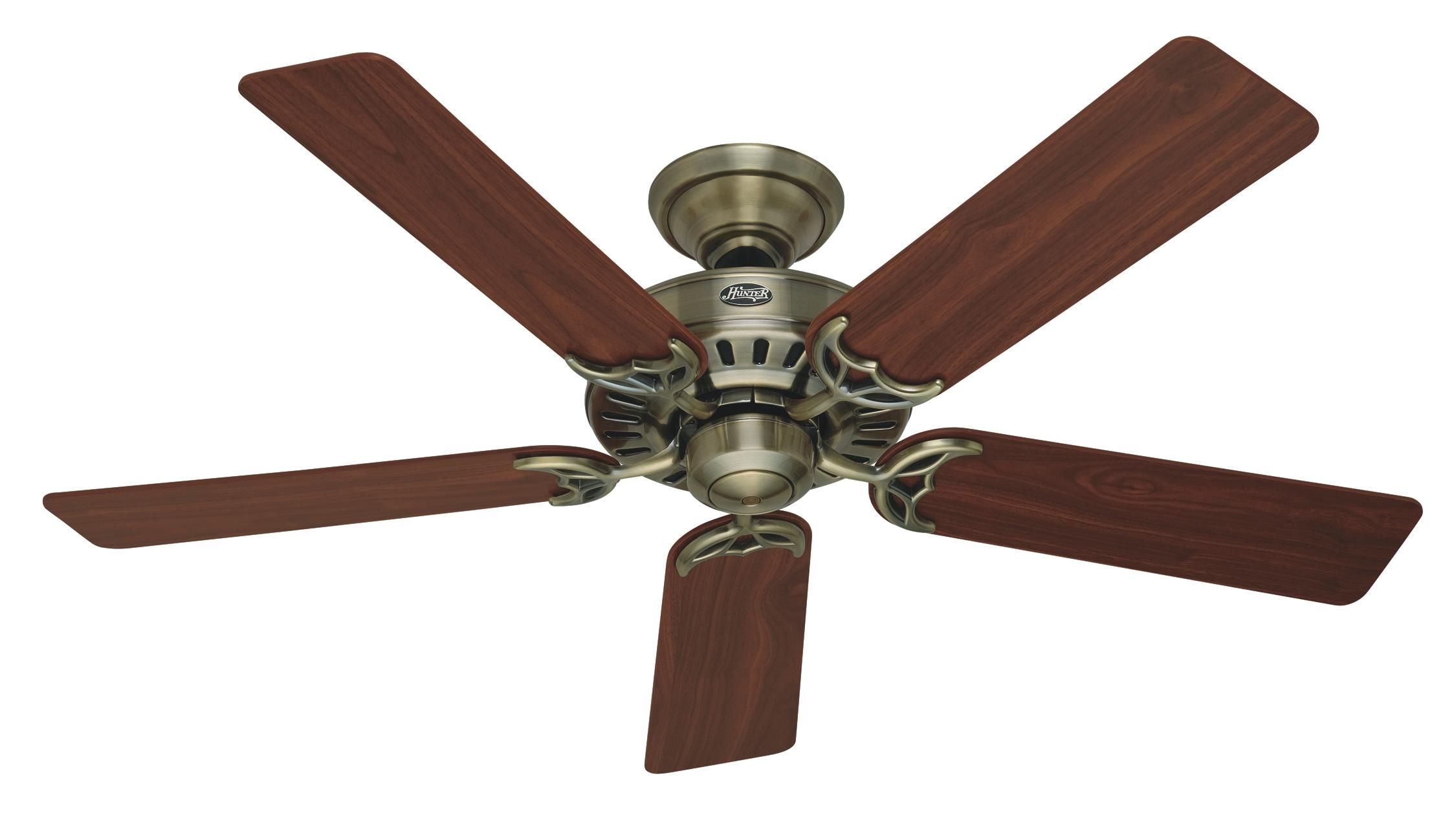 Hunter Summer Breeze 52 Hu 53040 Airflow Rating 5186 Cfm Cubic Feet Per Minute Brass Ceiling Fan Ceiling Fan Hugger Ceiling Fan