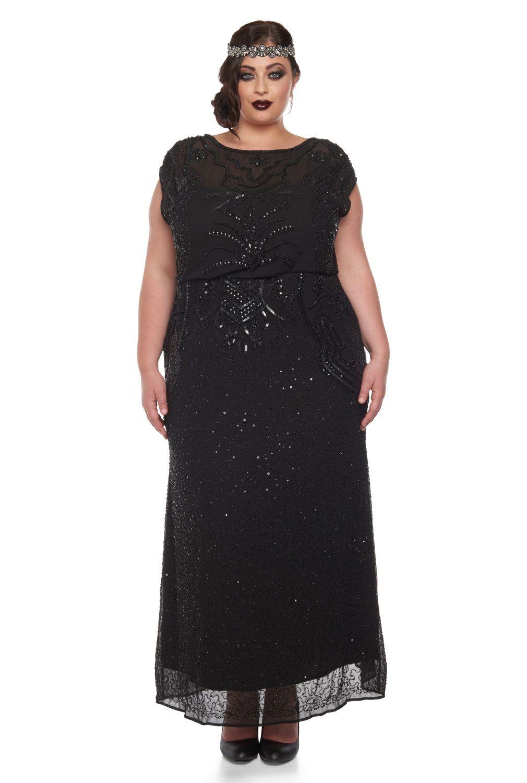 Us22 uk26 aus26 eu54 plus size isla black prom maxi dress for Black tie wedding dresses plus size