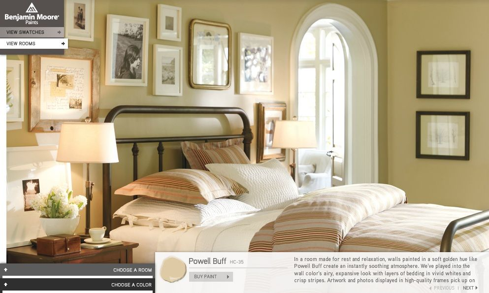 Nice Paint Color Benjamin Moore Collection For Pottery Barn Powell Buff HC Large Living RoomsLiving Room WallsDining