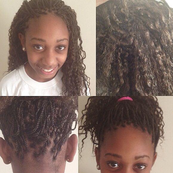 Micro Braids Nope Crochet Braids For Kids Kids Hairstyles Girls Hairstyles Braids Little Girl Hairstyles