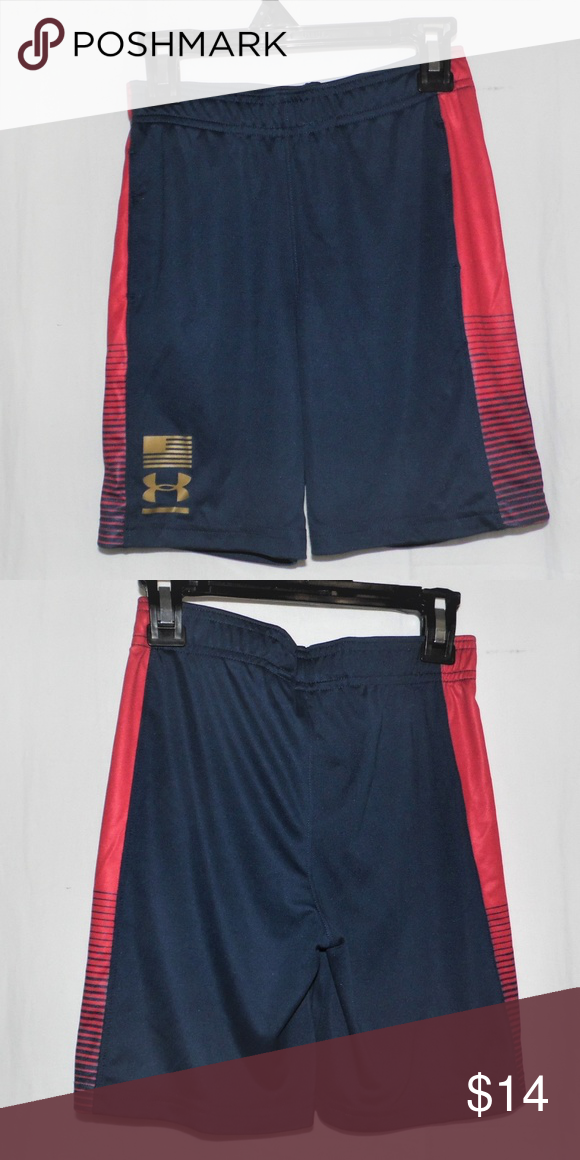 BOYS KIDS UNDER ARMOUR HEATGEAR SHORTS RED  SIZE 24 months NWT NEW WITH TAG