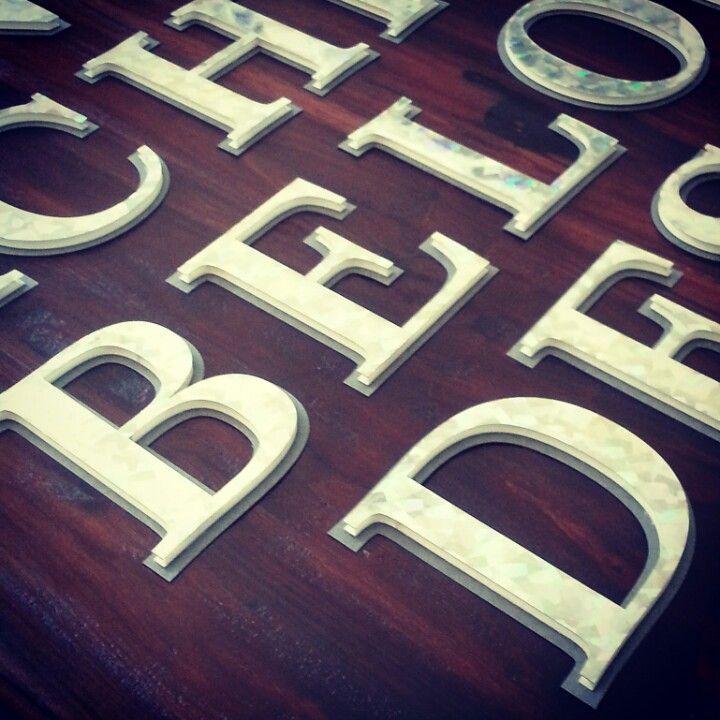 Metallic Foam Board Personalized 5 Letters By Project Formations Www Projectformations Com Foam Board Lettering Personalised