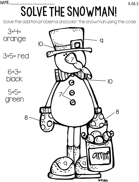 snowman addition freebie kinderland collaborative kindergarten math 1st grade math math. Black Bedroom Furniture Sets. Home Design Ideas