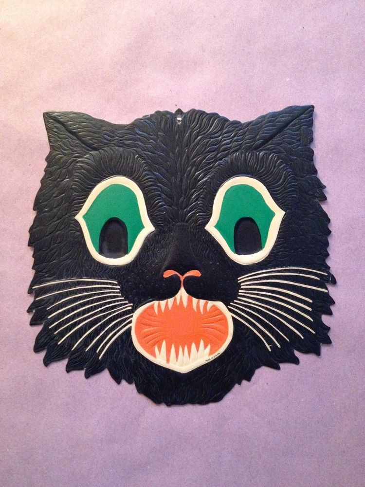 Beistle Black Cat Head Halloween Decoration Black cats and Decoration
