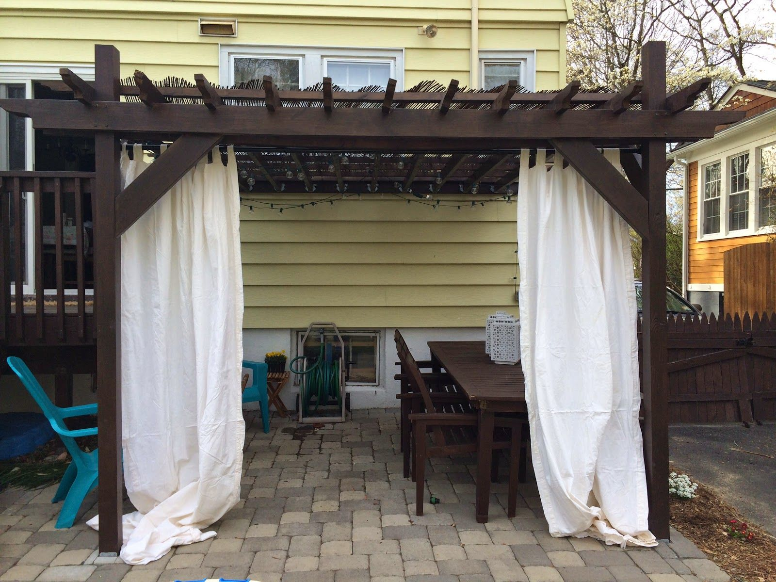 with around for pergola covered sheet the curtain curtains tub outdoor hot pin plastic