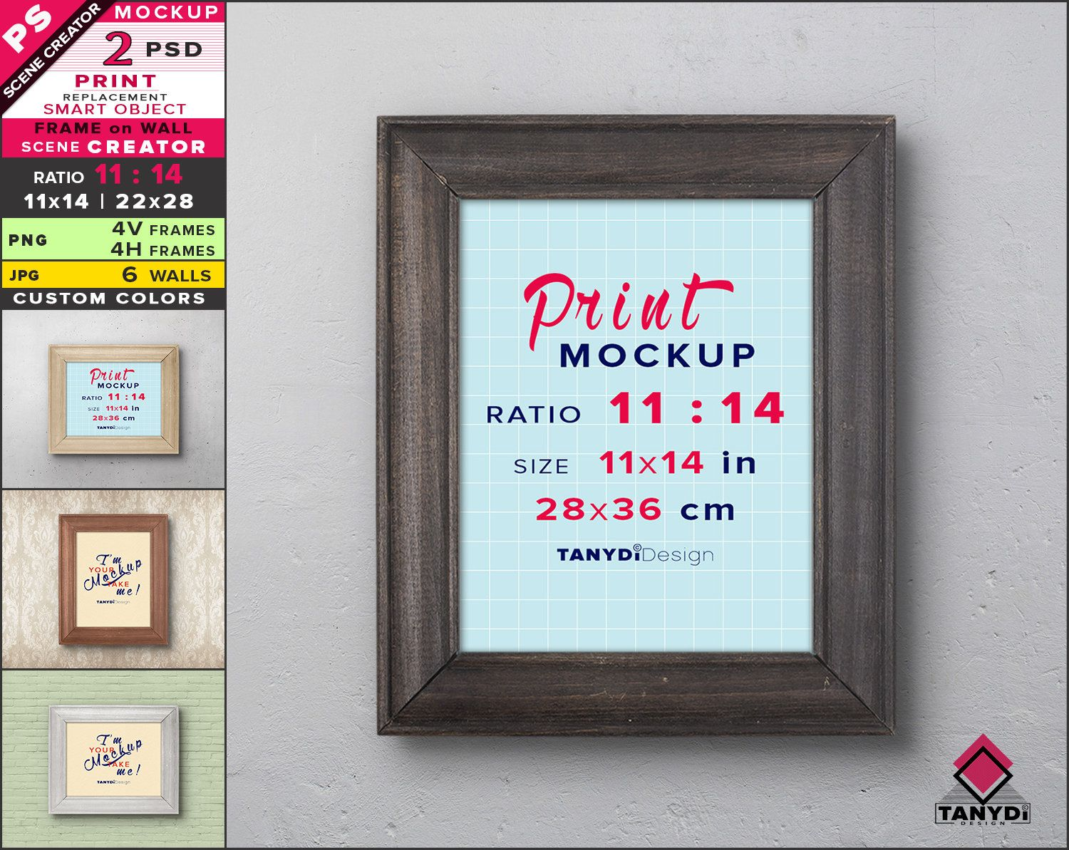 11x14 Frame On Wall Photoshop Print Mockup Vertical Etsy Frames On Wall Old Wood Wood Floor Stain Colors