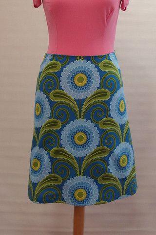 Sunflowers Skirt - Blue | Voon