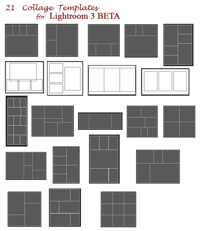 Free Collage Templates for Lightroom 3 photo templates Pinterest - free collage templates