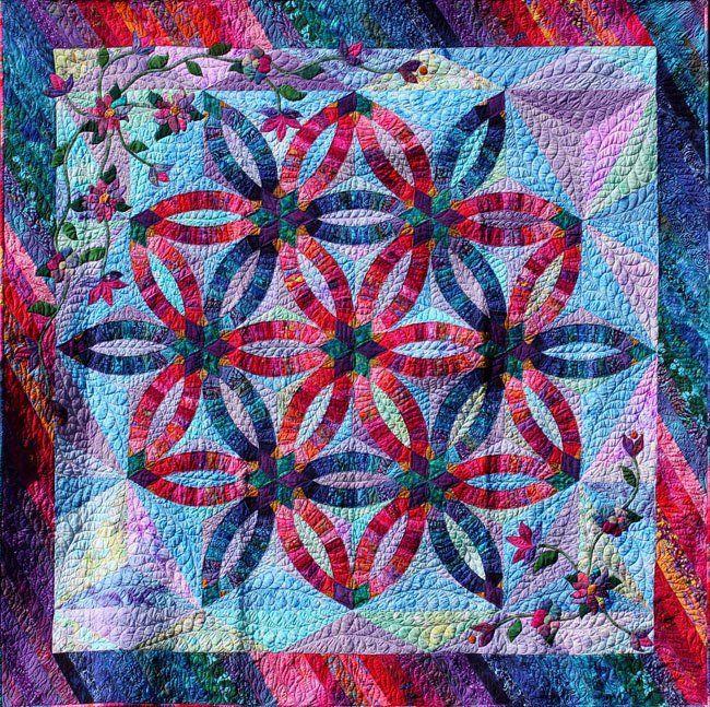 Diamond Wedding Ring~Quiltworx.com Made by Cindy Myers | Wedding ... : diamond double quilt pattern - Adamdwight.com