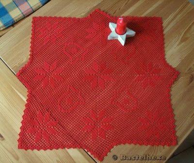 Gehäkelte Weihnachtsdecke 02 Häkeln Pinterest