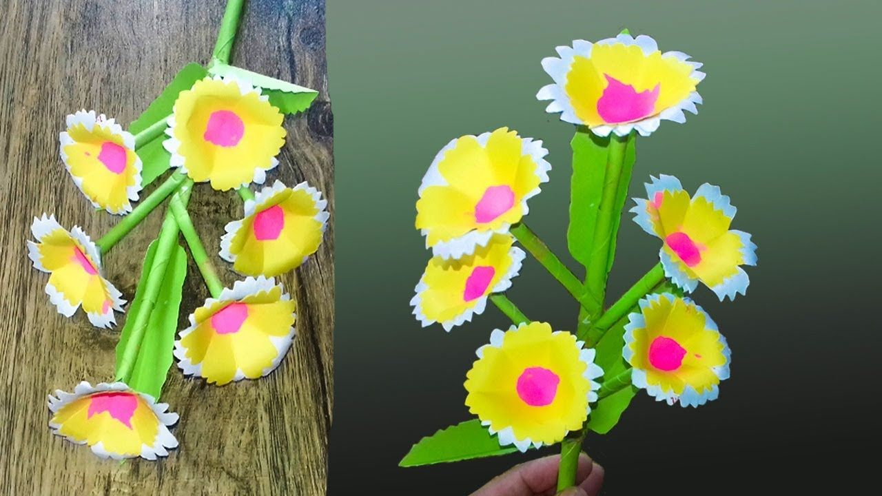 Beautiful Paper Flower Stick For Room Decorationdiy Hand