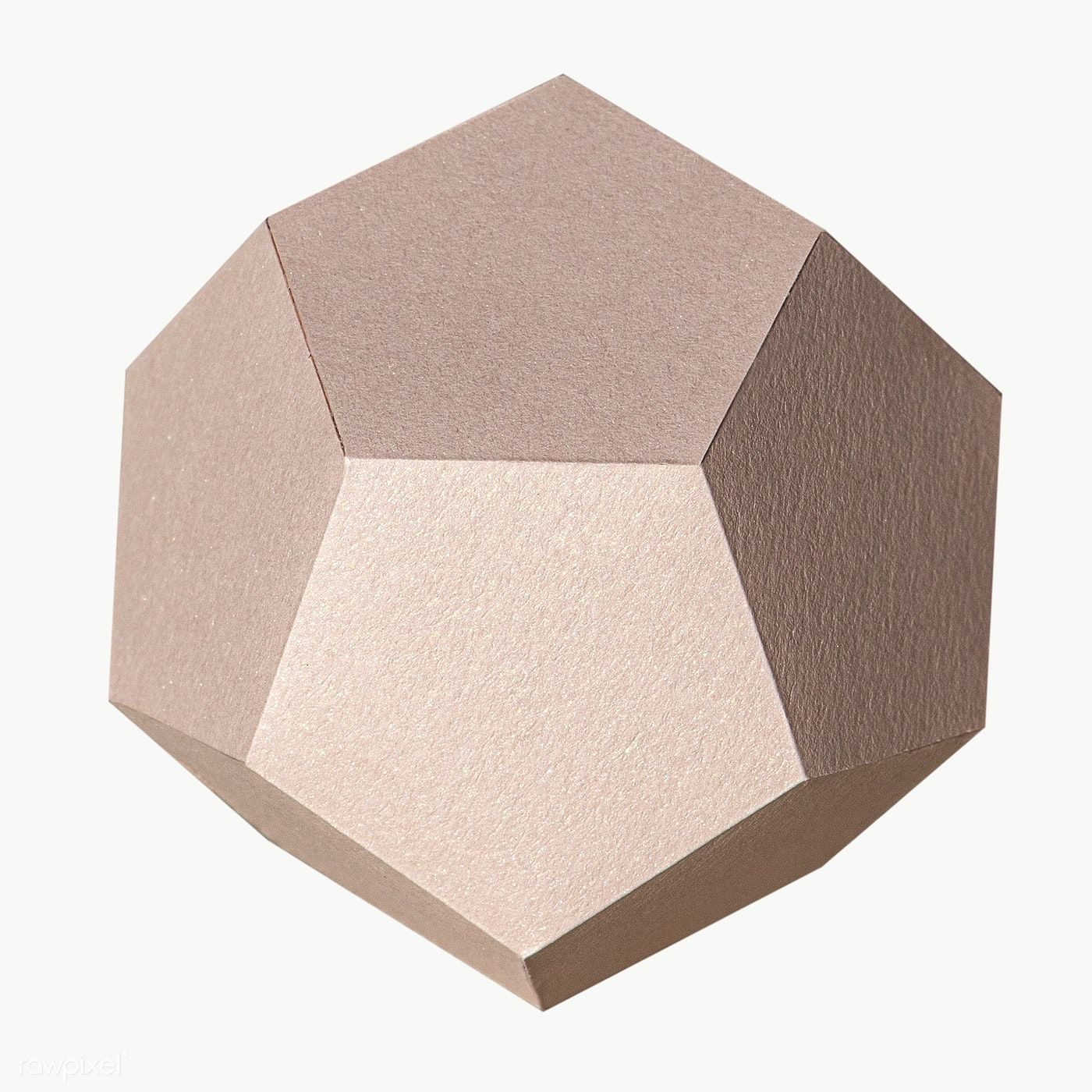 3d Pink Pentagon Shaped Paper Craft Design Element Free Image By Rawpixel Com Jira Pentagon Shape Geometric Shapes Geometric Pattern
