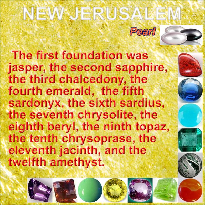 Biblical Gemstones In Revelation New Jerusalem Jerusalem Revelation