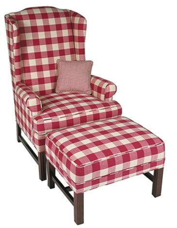 Red Checked Primitive Couch | Our Price From $ 782 (Depending On Fabric  Choice)