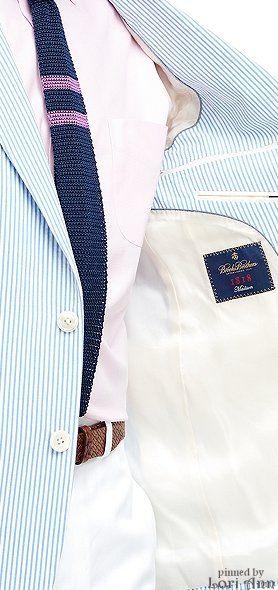 Brooks Brothers Madison Fit Seersucker Sport Coat