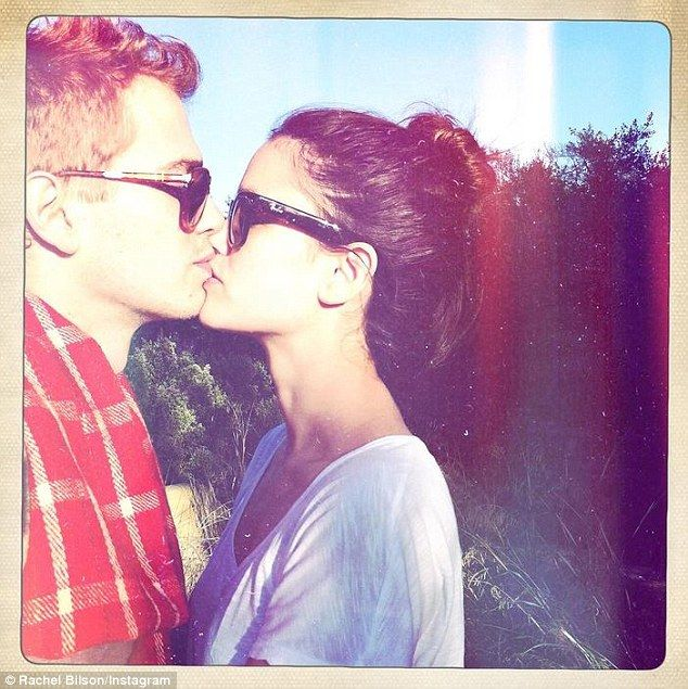 It's by time: On Friday Rachel Bilson finally shared a snap where she was planting a smooc...