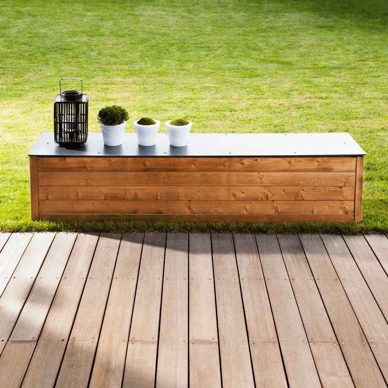 banc coffre exterieur bois recherche google banc. Black Bedroom Furniture Sets. Home Design Ideas