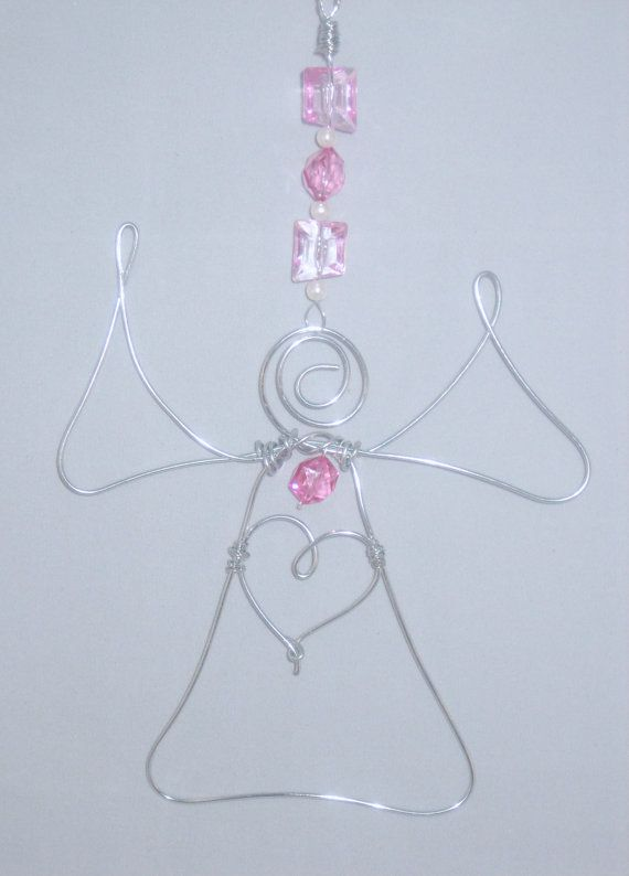 Guardian Angel Wire Ornament with Wire Heart by laelangels on Etsy ...