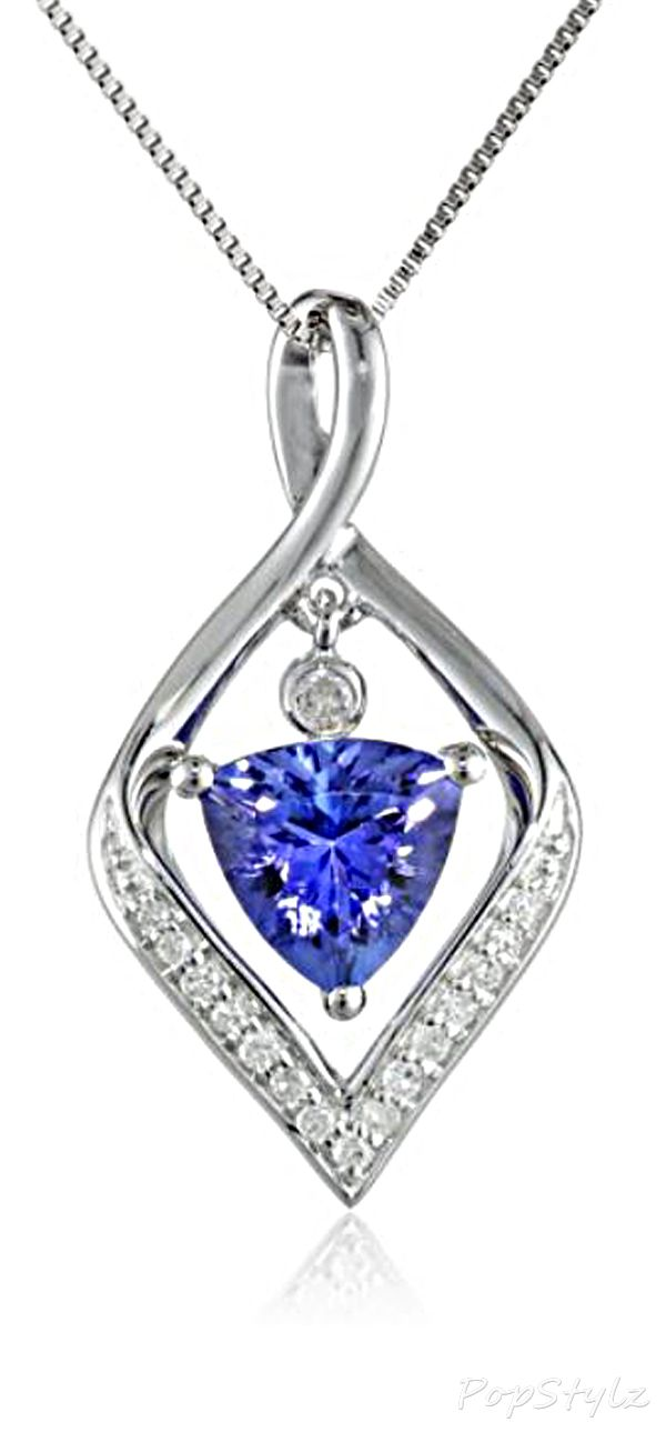 14k white gold tanzanite diamond necklace jewels 14k white gold tanzanite diamond necklace aloadofball Image collections