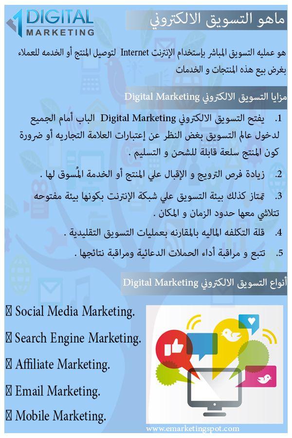 ماهو التسويق الالكتروني ومميزاته وأنواعه Emarketingspot Marketing Plan Template Marketing Plan Marketing