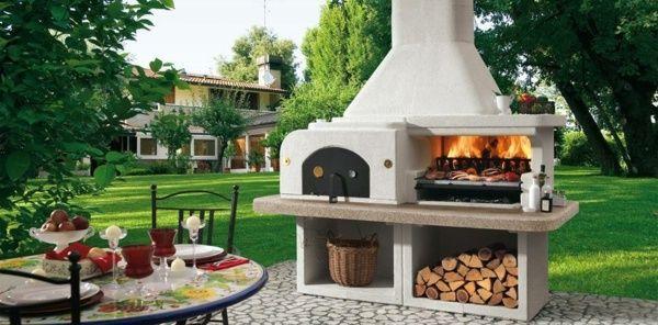 Modele Barbecue barbecue fixe et aménagement d'un coin repas | idées pour la maison