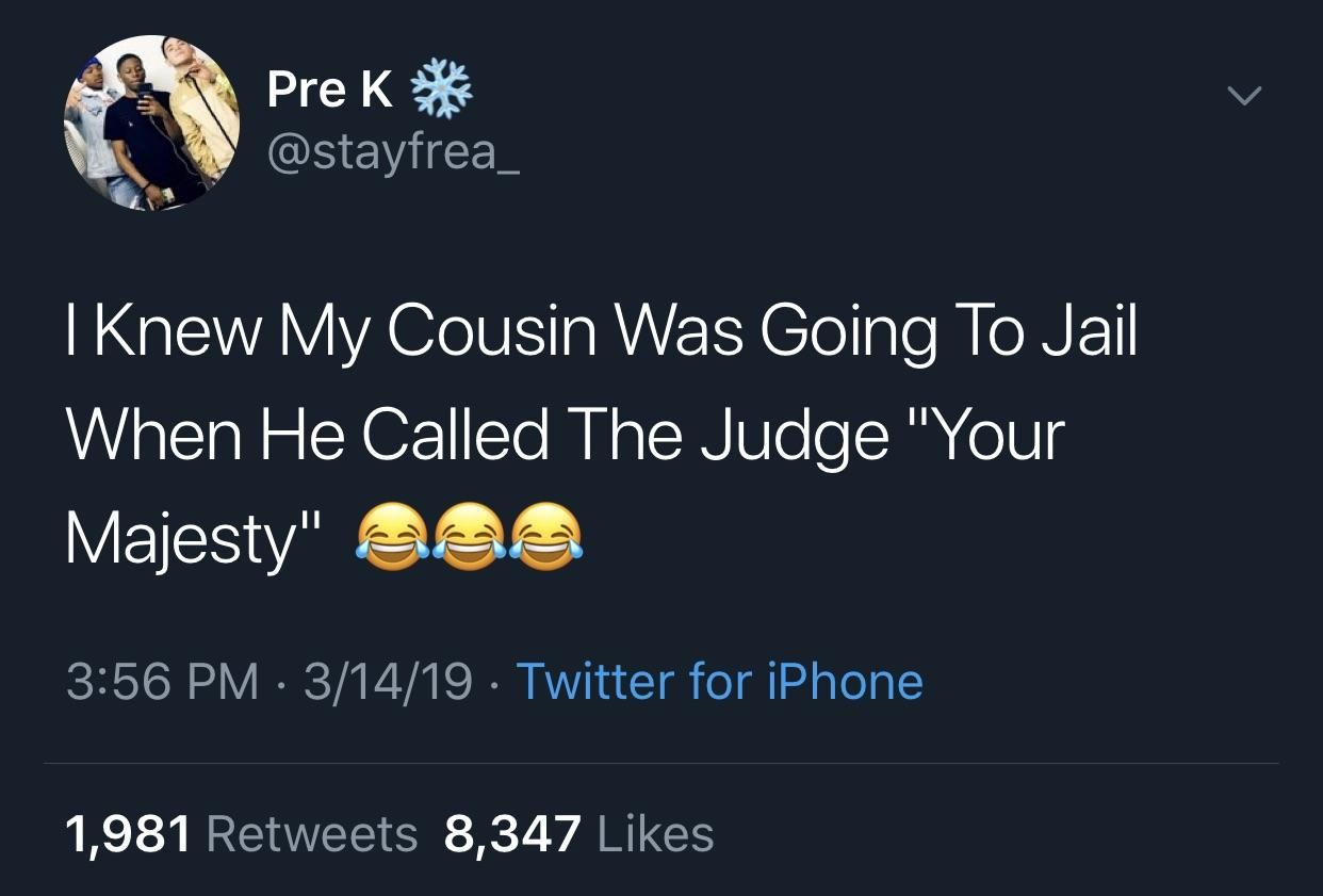 He Gets A Get Out Of Jail Free Card Blackpeopletwitter Funny Relatable Quotes Funny Twitter Posts Really Funny Memes
