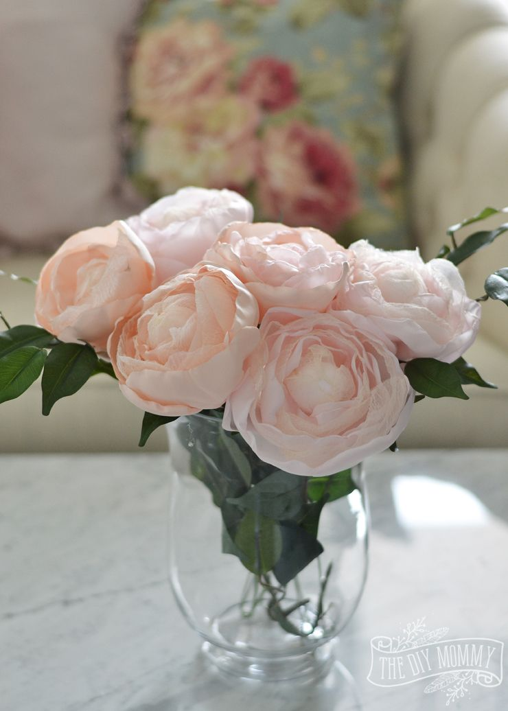How to Make Realistic Fabric Peonies with Stems - Video Tutorial ...