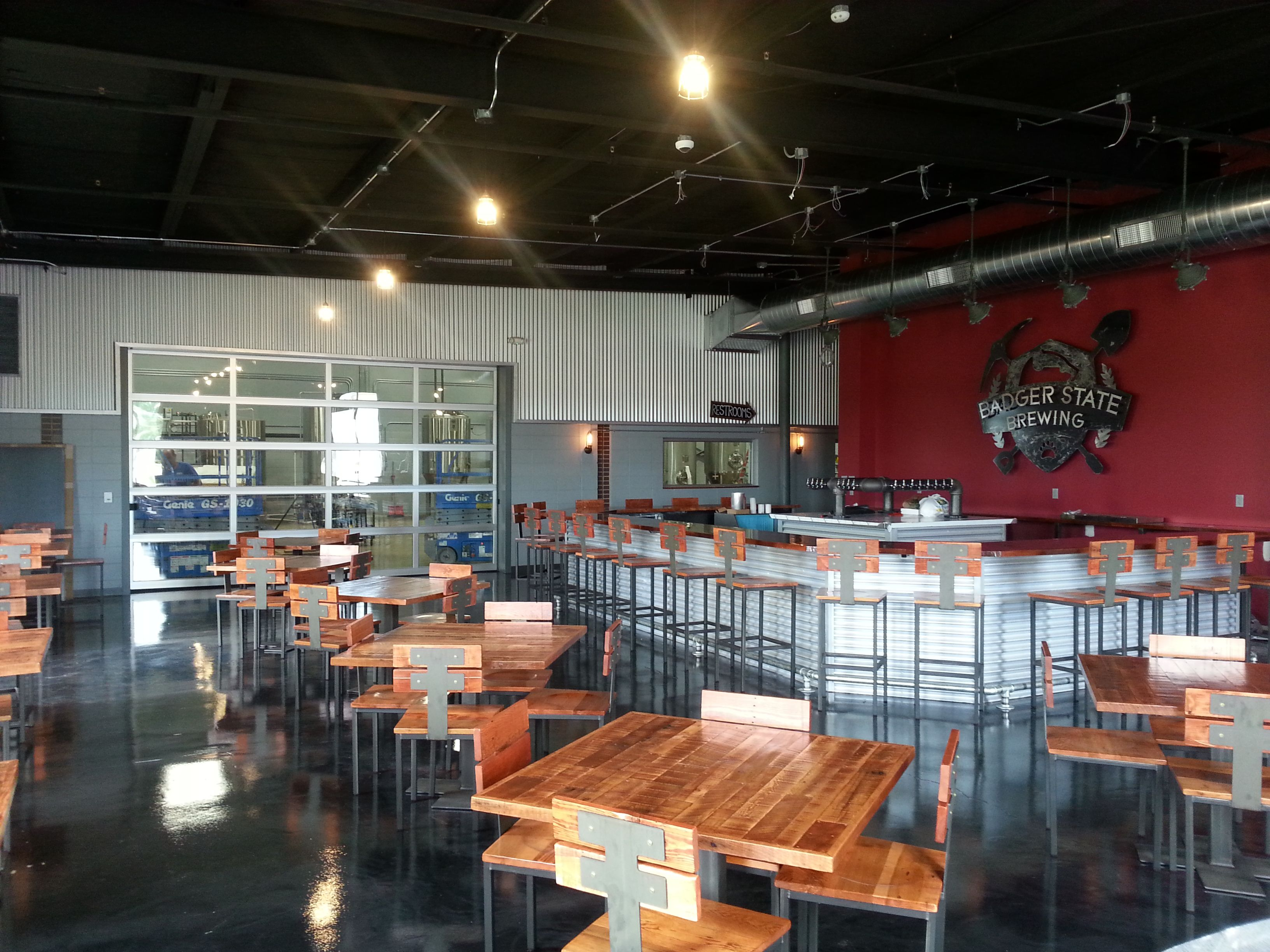 Badger State Brewing Co Interior Green Bay Wisconsin Iconica Design Build