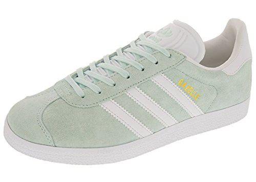 Adidas Women's Gazelle W Sneaker, Ice MintWhiteMetallic