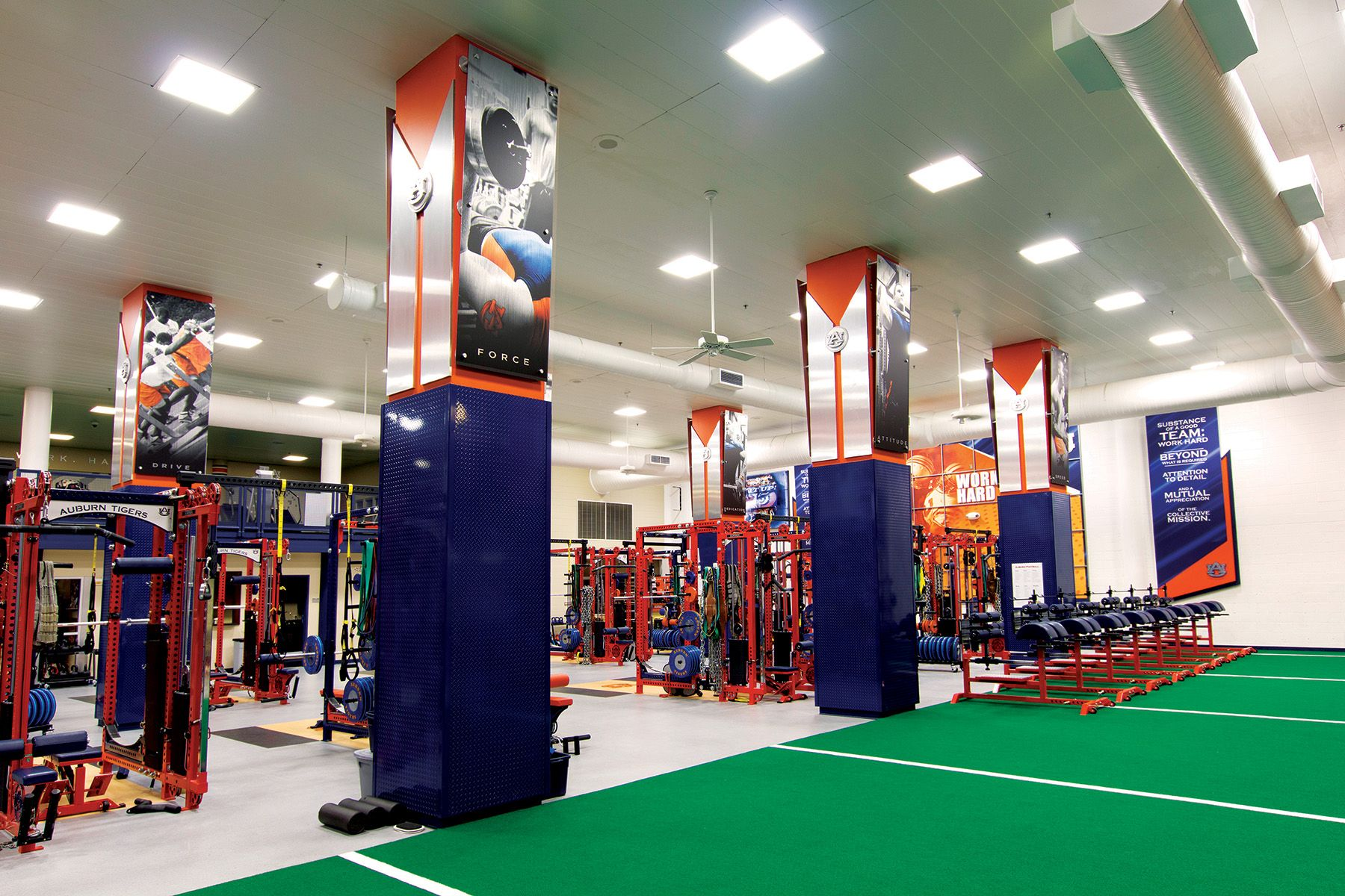 Auburn University Football Weight Room