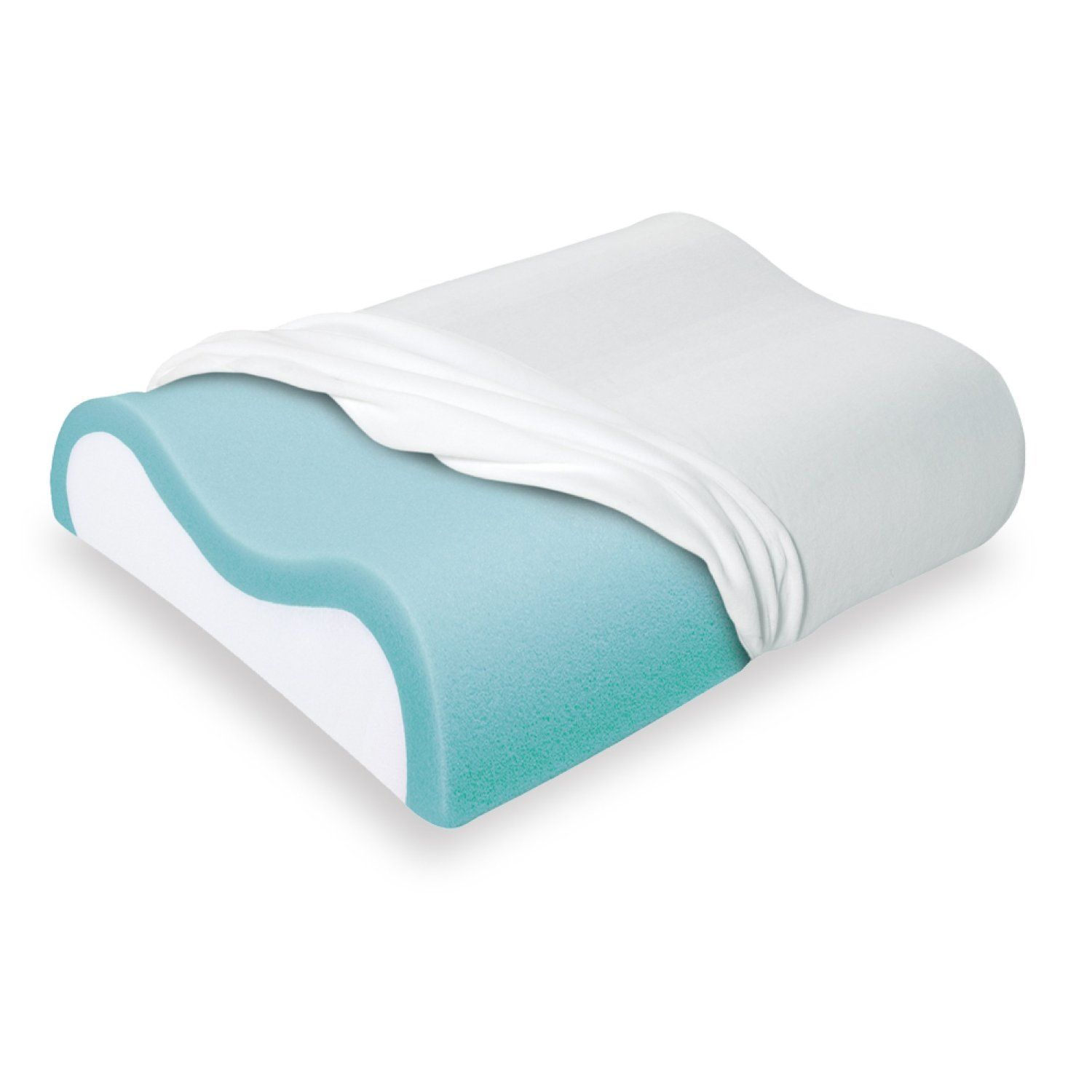 Sleep Innovations Cool Contour Memory Foam Pillow For