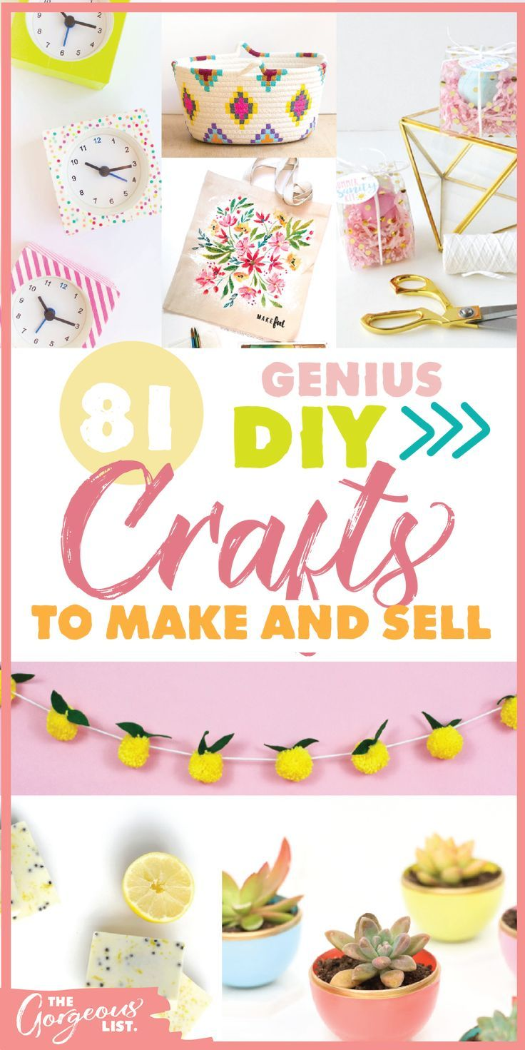 Here is an awesome list of 21 craft ideas to make and sell | Make money with crafts | DIY Crafts To Make And sell | The Gorgeous List | #craftstosell