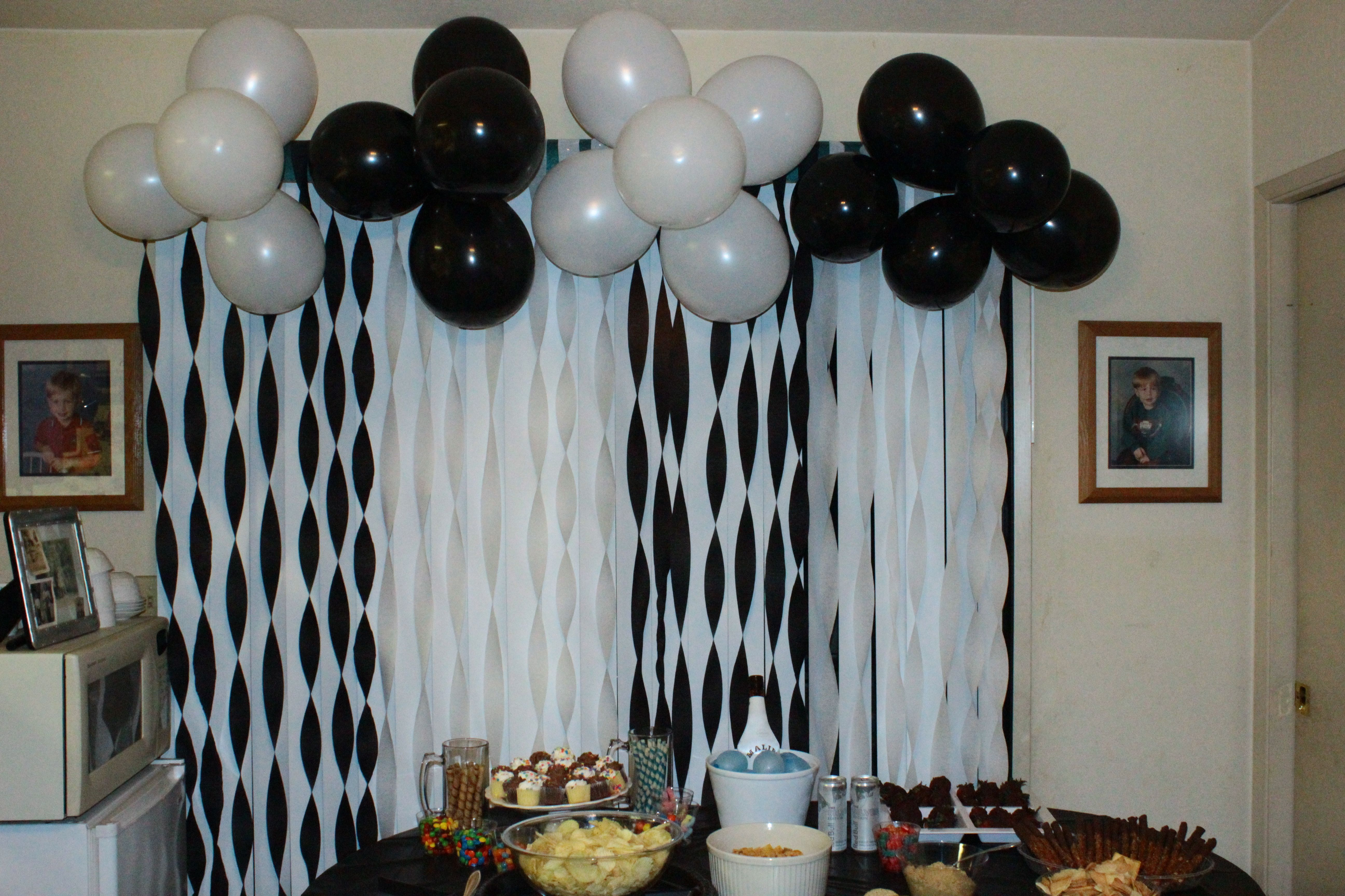 Black And White Birthday Party Black White Party Decorations