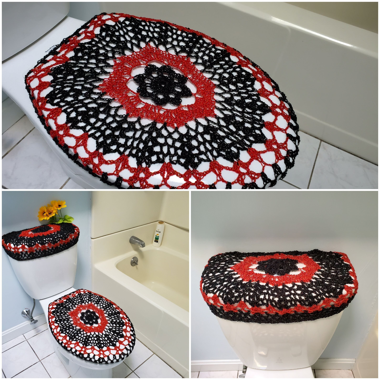 Stupendous Crochet Toilet Seat Cover Or Crochet Toilet Tank Lid Cover Machost Co Dining Chair Design Ideas Machostcouk