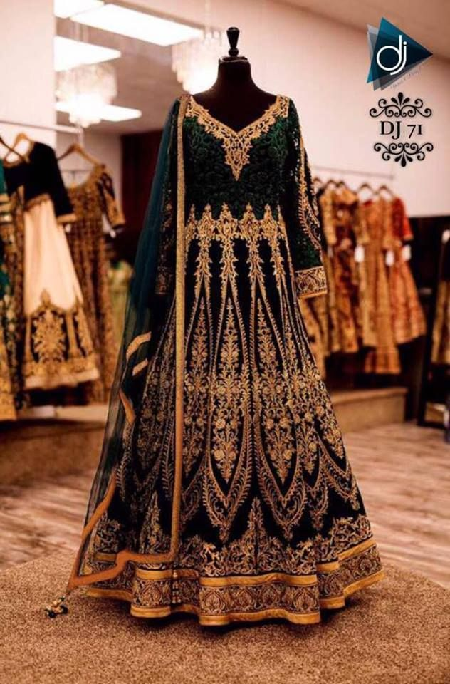 Exclusive Designer party wear indian wedding sari vintage bridal bollywood dress