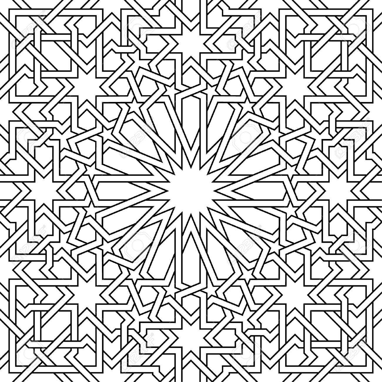 Dessin Marocain Pochoir Moroccan Pattern It S A Vector Used In Architectural
